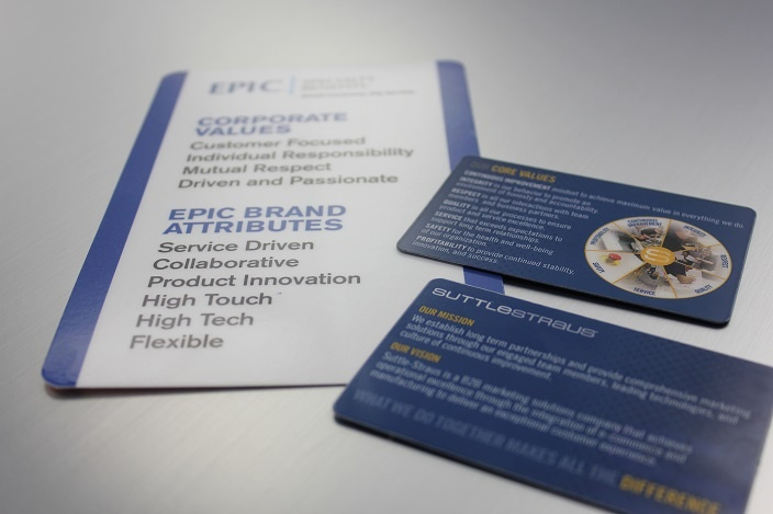 Epic Specialty Benefits Core Values Card